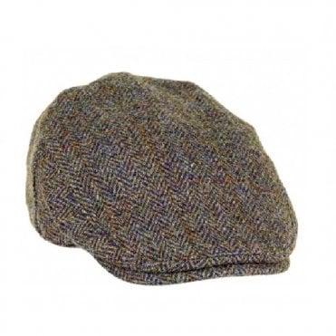 ff0c7a61 Harris Tweed Highland Flat Cap New · Heather Hats ...